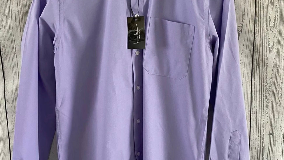"Mens Nicole Miller Purple Long Sleeve Shirt 15"" Collar 38"" Chest New Tags"