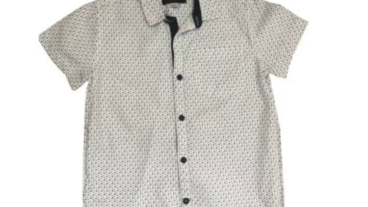 Boys River Island Skull Short Sleeve Shirt Age 9 Years Excellent Condition