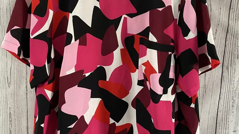 Womens / Ladies Marks & Spencer Pink Mix Blouse Top Size 22 Immaculate Condition