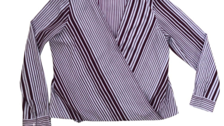 Womens / Ladies Next Purple Stripe Blouse Top Size 16 Immaculate Condition