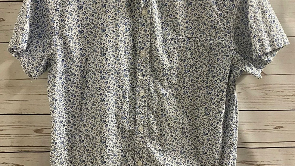 Mens Cedar Wood State Short Sleeve Floral Shirt Too Size Medium Immaculate