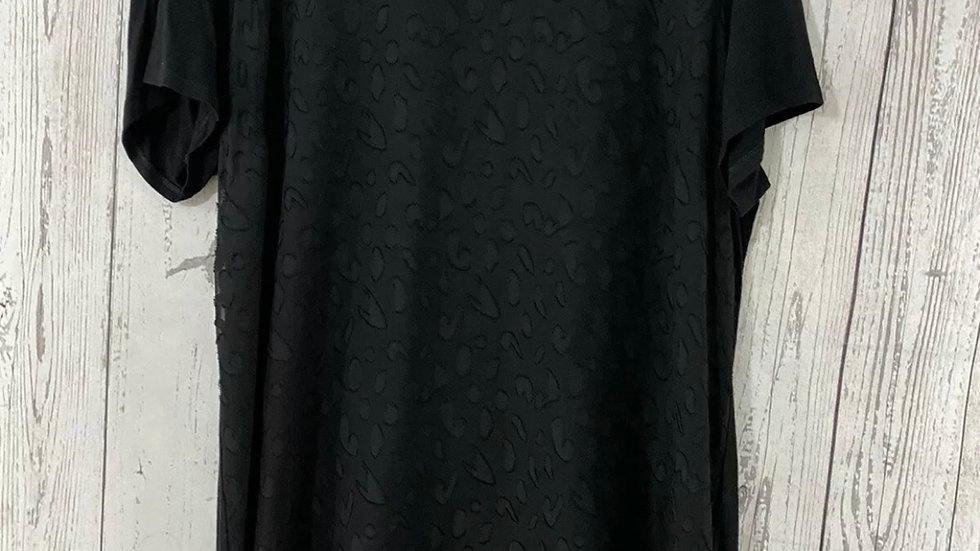 Womens / Ladies Matalan Black Heart Blouse Top size 16 Good Condition
