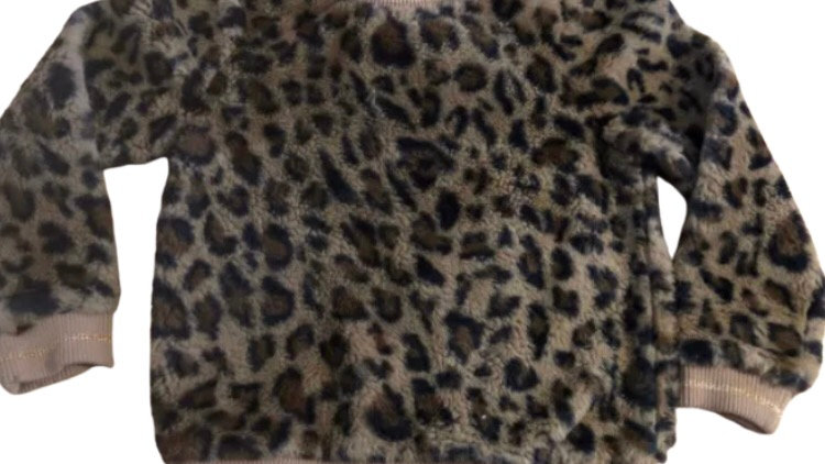 Girls George Fluffy Leopard Print Jumper Age 8-9 Years Excellent Condition
