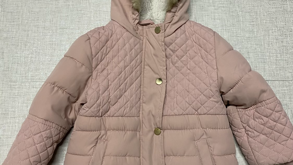 Girls George Pink Padded Coat Age 1.5-2 Years Excellent Condition