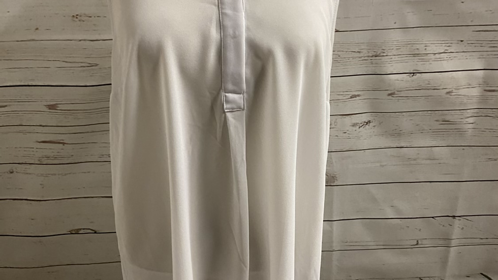 Womens / Ladies New Look White Blouse Tunic Top Size 14 Immaculate Condition