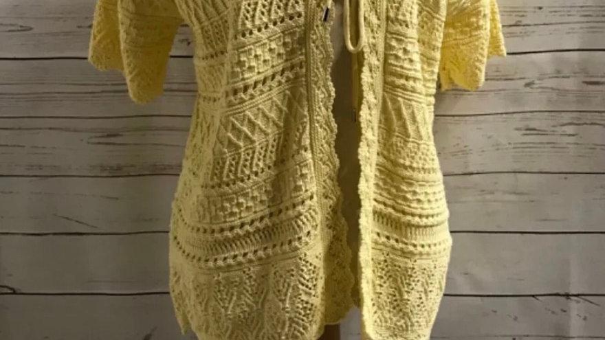 Women's / ladies yellow Glimpse crochet cardigan size L/ XL new