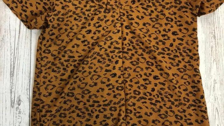 Womens / Ladies Sweewe Paris Leopard Blouse Top Size Medium - Excellent