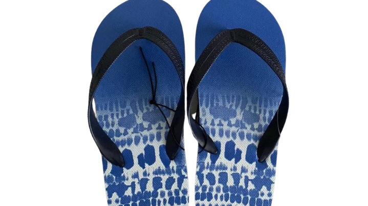 Boys / Men's Matalan Blue White Flip Flops Size 6 New With Tags