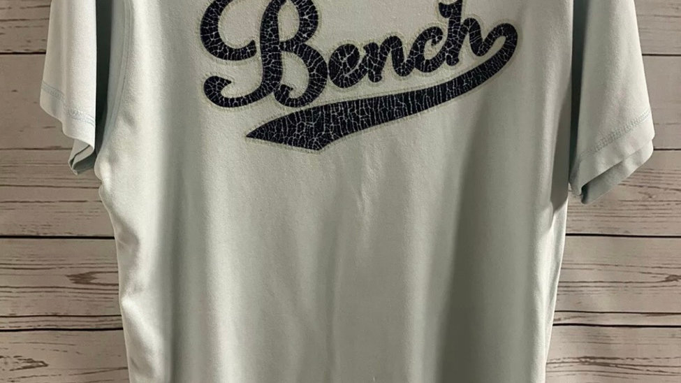 Mens Bench Mint Green Short Sleeve T-Shirt Size Medium - Excellent Condition