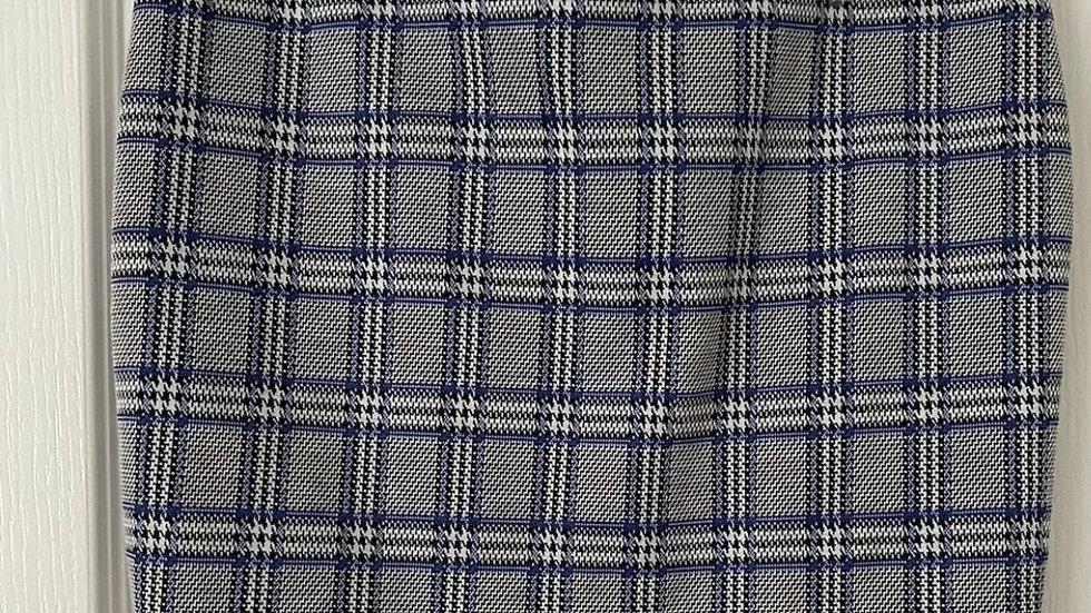 Womens / Ladies Primark Blue Check Tartan Elasticated Skirt Size 10 Immaculate