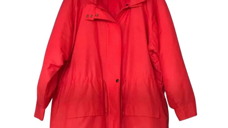 Women's / ladies red padded coat size 12 / 14 excellent condition