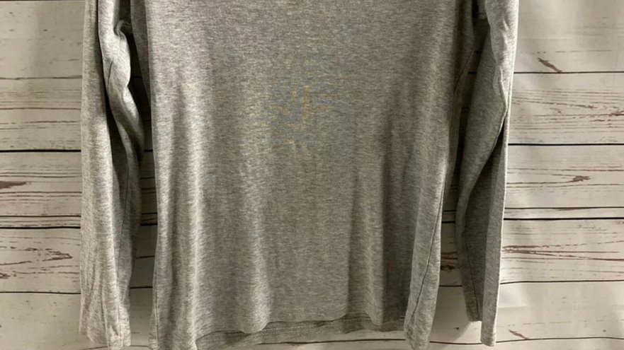 Womens / Ladies George Grey Long Sleeve Round Neck Top Size 14 Excellent Cond