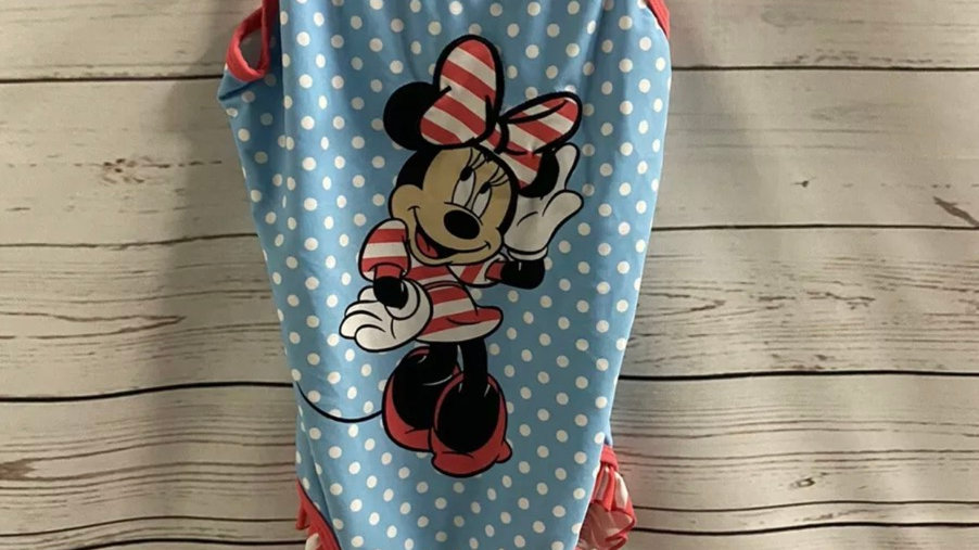 Girls TU Minnie Mouse Swimming Costume Age 9 Years Immaculate