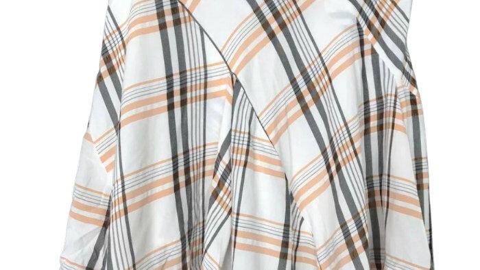 Vivienne Westwood red label rare Orange White Check Skirt Size 44 UK 12
