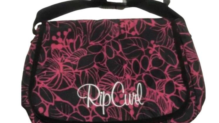Rip Curl Black n Berry Curve Womens Ladies Girls Shoulder Satchel Messenger Bag