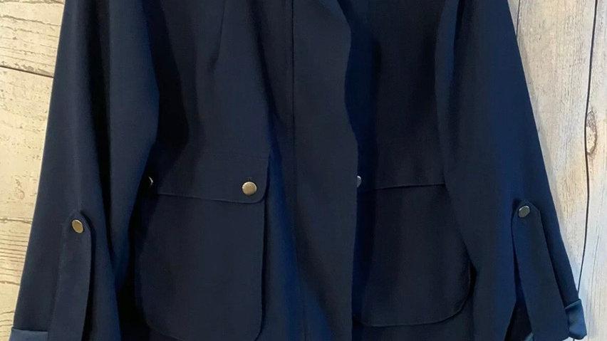 Womens / Ladies Next Navy Blue Zip Smart Jacket Size 14 Immaculate