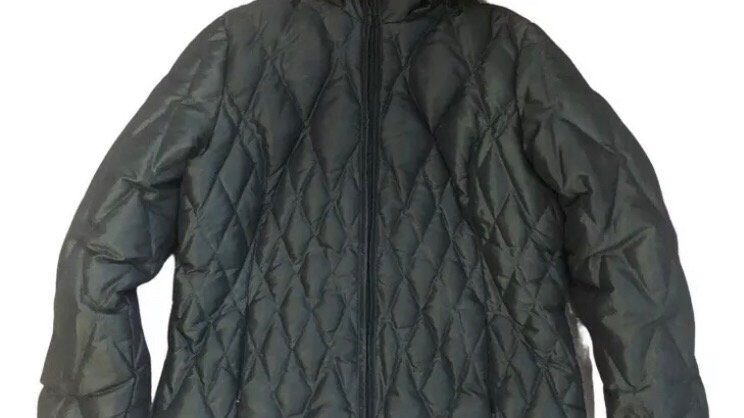 Womens / Ladies M&S Feather & Down Green Quilted Size 10 Excellent Condition