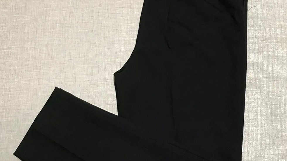"Womens / Ladies Saira Black Elasticated Trousers Size 12 Leg 27"" Length New Tags"