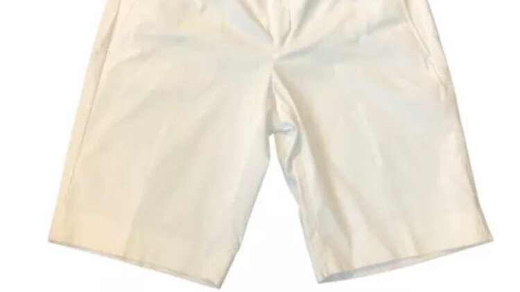 Womens / Ladies Banana Republic White Cotton Shorts Size 10 New With Tags