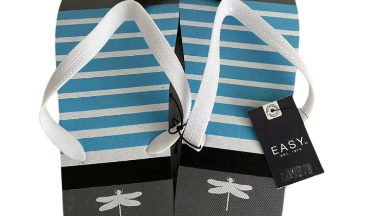 Mens Matalan Grey Blue Flip Flops Size 10 New With Tags