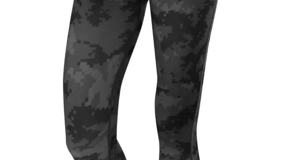 TCA Women's Running Gym Leggings Yoga Bottoms Zip Pocket grey graphic Small