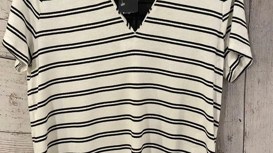 Womens / Ladies Marks & Spencer Black White Top & Blouse Trim Size 10 New & Tags