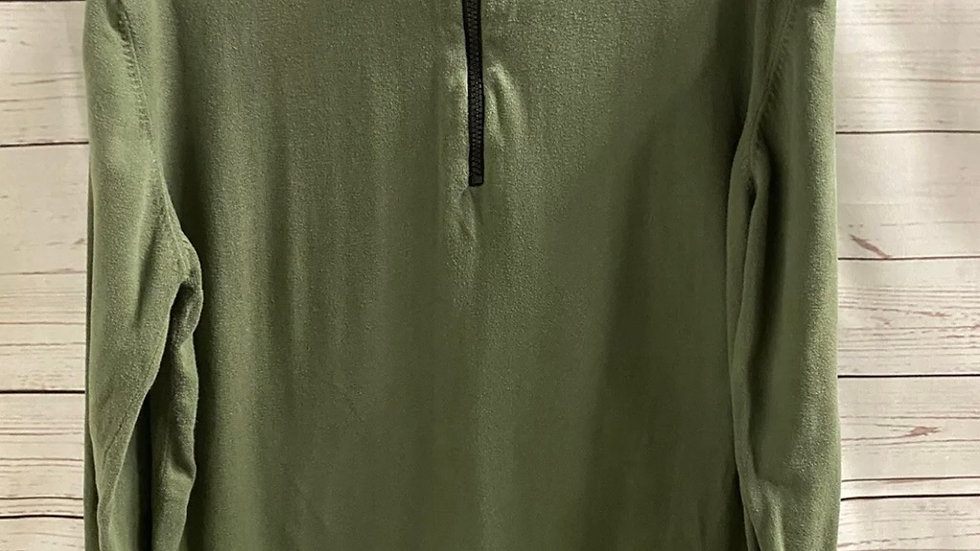 Mens Duck & Cover Green Kahki 1/4 Zip Jumper Size Large Good Condtion