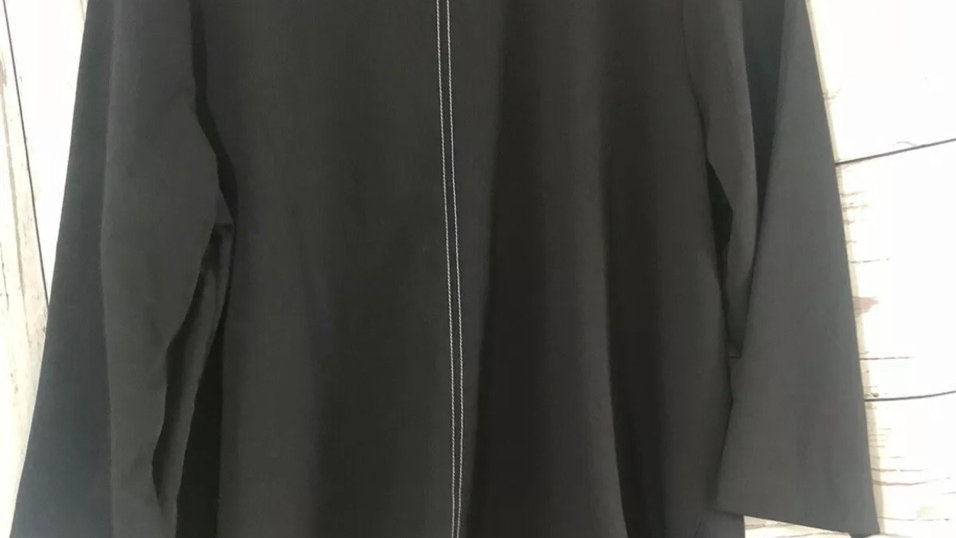 Women's / Ladies Marks & Spencer Black 3/4 Sleeve Blouse Size 14 Immaculate