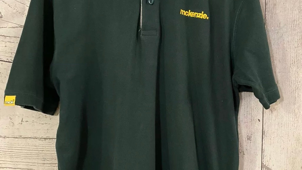 Mens Mckenzie Green Polo Neck T-shirt Size XL - Excellent Condition