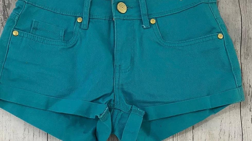 Womens / Ladies Denim & Co Green Denim Shorts Size 8 Immaculate