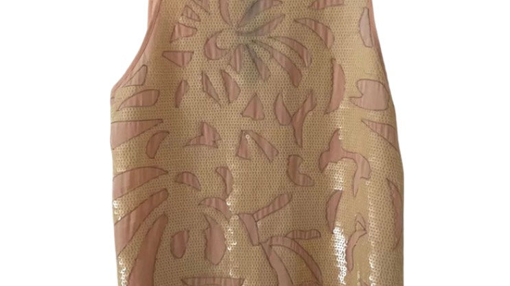 Womens / Ladies Warehouse Pink Peach Sequence Vest Top Size 16 Immaculate