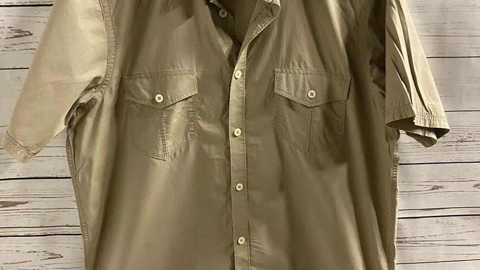 Mens Ben Sherman Light Brown Short Sleeve Shirt Size Medium - Immaculate