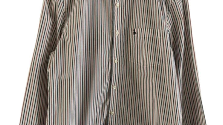 Mens Jack Wills Blue / Red Stripe Long Sleeve Shirt Size Large Immaculate