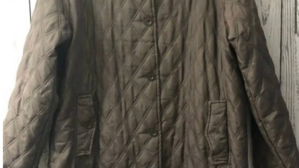 Women's Ted Lapidus French Designer Brown Quilted Jacket Lightly Padded Medium