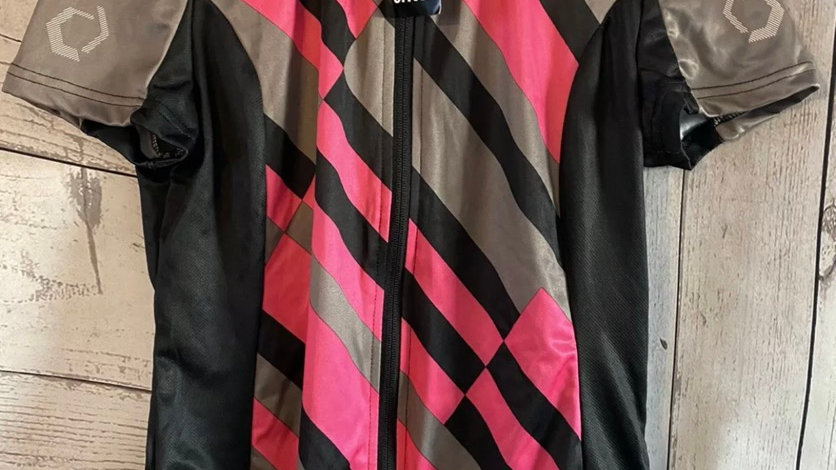 Womens / Ladies Crivit Brown Pink Cycling Top 18-20 New With Tags