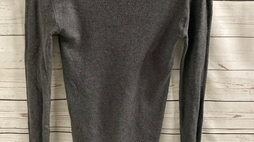 Womens / Ladies Primark Grey Ribbed Long Sleeve Top Size 8 Immaculate