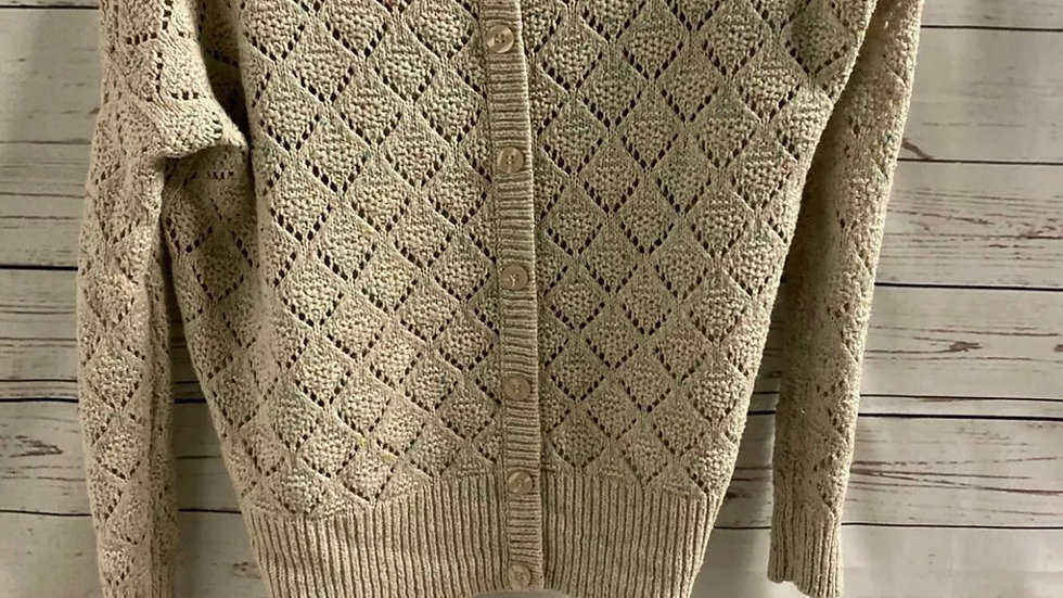 Womens / Ladies New Look Beige Colour Flek Knitted Cardigan Size 8 Immaculate