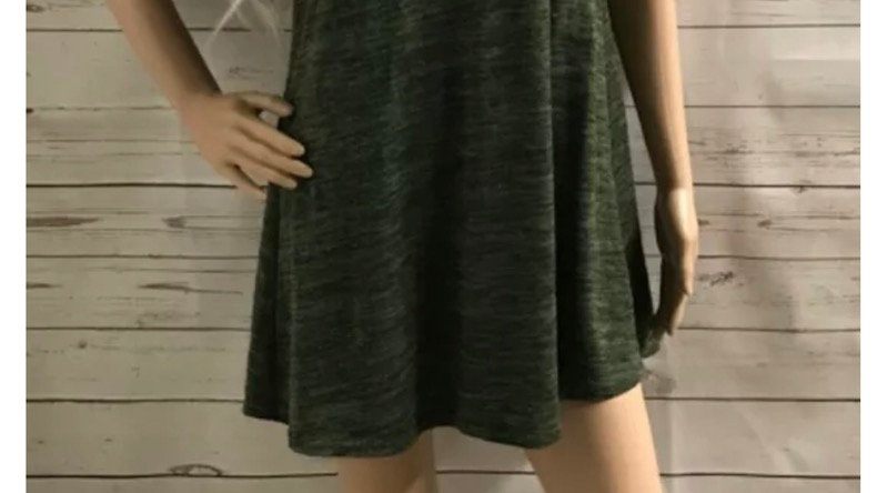 Womens / Ladies Soft Green High Neck Short Dress Size 10 Immaculate
