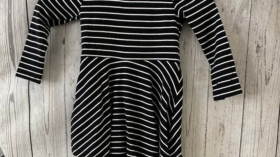 Girls TU Black & White Stripe Dress Age 4 Years Immaculate Condition