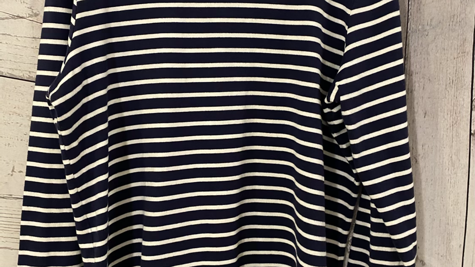 Womens / Ladies Joules Navy & White Stripe Long Sleeve Top Size 16 Excellent