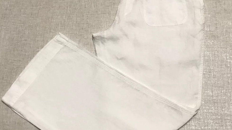 Womens / Ladies Atmosphere White 100% Linen Trousers Size 18 Immaculate Conditio