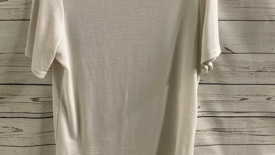 Womens / Ladies Damart White Short Sleeve Stretch T-Shirt Size 14-16 Immaculate