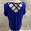 Thumbnail: Womens / Ladies Peacocks Blue Short Sleeve T-Shirt Size 14 Immaculate