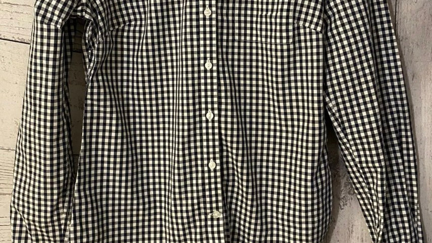 Womens / Ladies Jack Wills Blue White Check Long Sleeve Shirt Size 8 Excellent