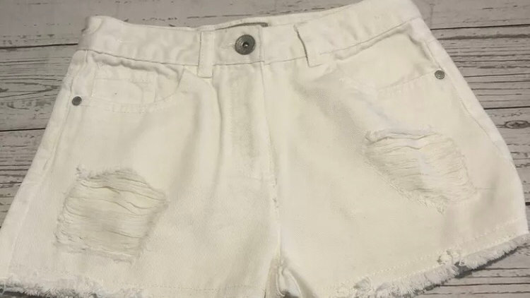 Girls Next White Denim Shorts Age 10 Years Immaculate Condition