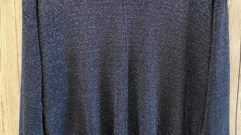 Womens / Ladies Wallis Blue Sparkle V Neck Jumper Size Medium - Immaculate