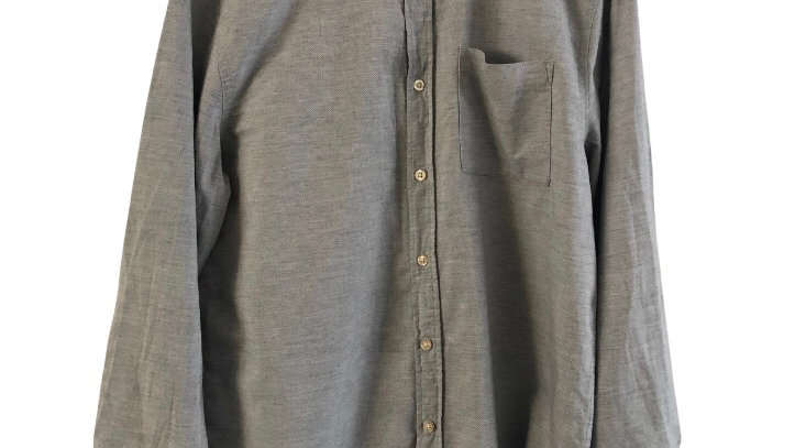 Mens George Blue Long Sleeve Shirt Size Medium - Excellent Condition