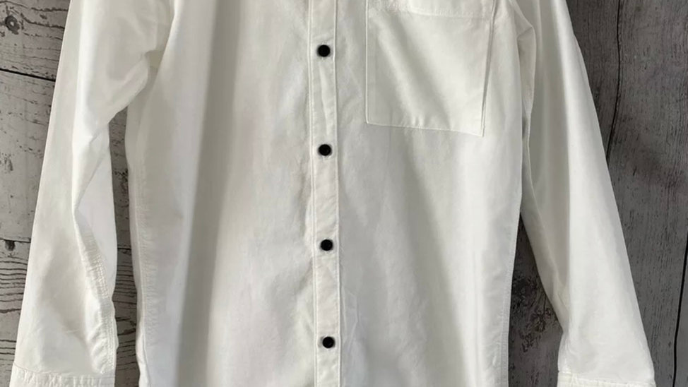 Boys River Island White Long Sleeve Shirt Age 11-12 Immaculate