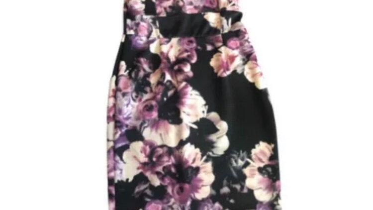 Womens / Ladies Asos Purple Floral Dress Size 16 Excellent Condition s