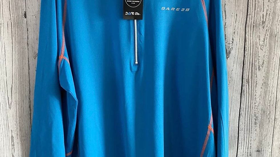 Dare 2b Interfuse 1/4 Zip Core Stretch Top Extreme Blue New With Tags Size Xxxl